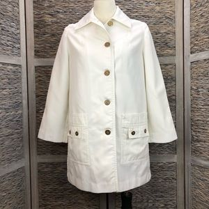 Vintage 60s ivory trench coat size 6/8